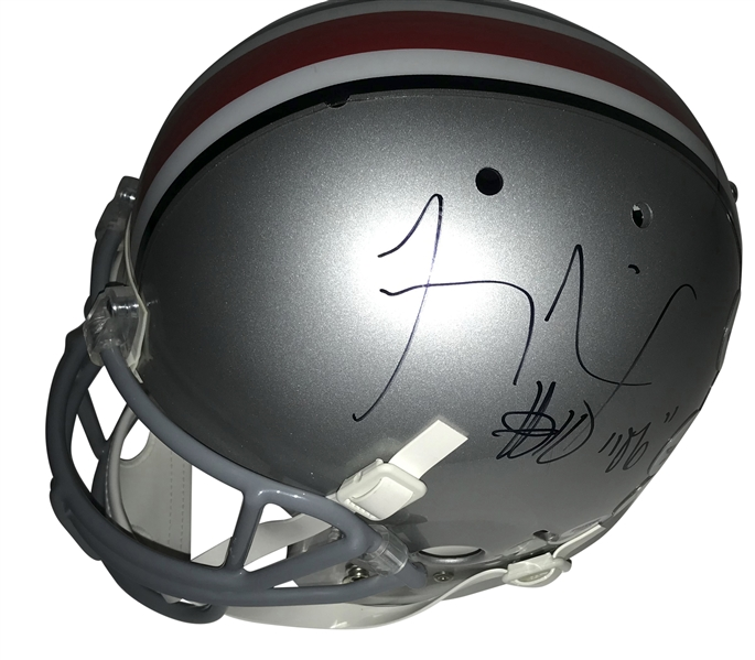 Troy Smith Signed Ohio State Full Size Helmet (PSA/DNA)