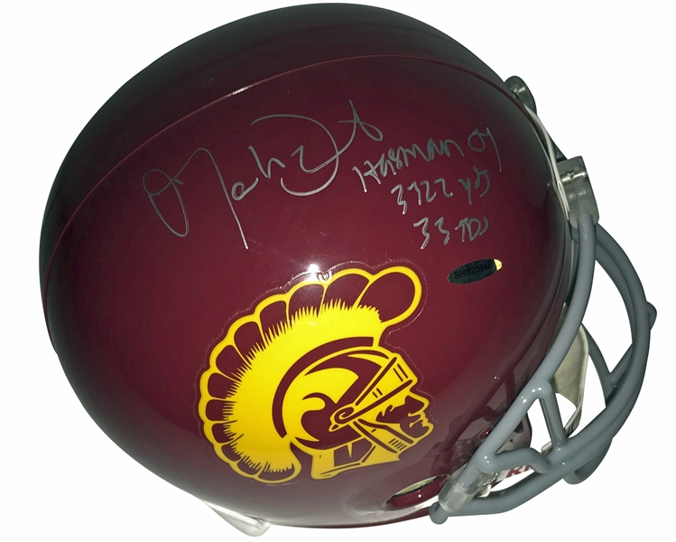 Matt Leinart Signed & Heisman Inscribed USC Helmet (Upper Deck)