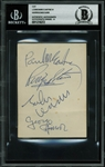 "The Beatles Superb Signed 3"" x 4"" Album Page w/ McCartney, Lennon, Harrison & Starr - Beckett/BAS Graded MINT 9!"