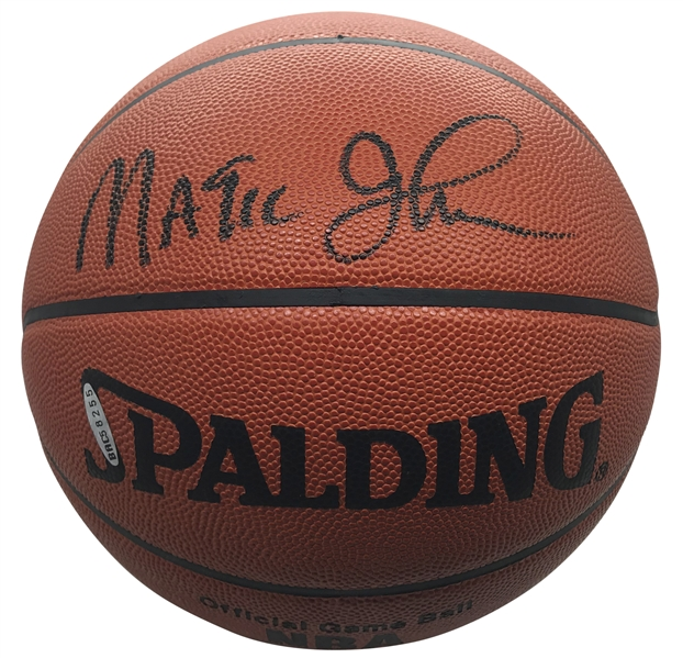 Magic Johnson Signed Official Leather NBA Basketball (Upper Deck)