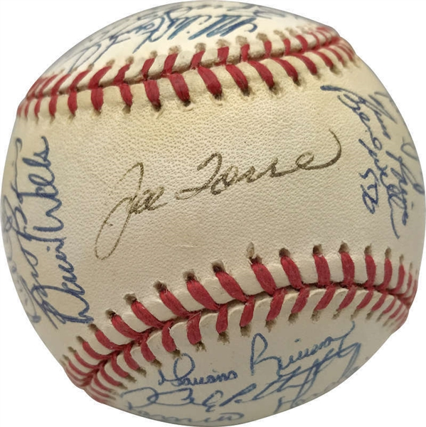1998 New York Yankees Team Signed OAL Baseball w/ Jeter, Rivera & Others! (Beckett/BAS)