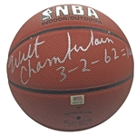 Wilt Chamberlain RARE Signed & Inscribed 100 Point Game Basketball (PSA/DNA)
