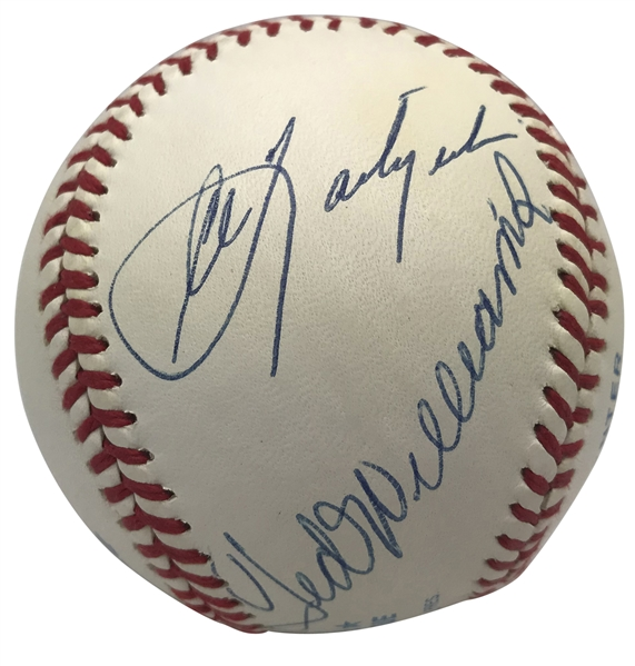 Triple Crown Winners Signed OAL Baseball w/ Williams, Mantle & Others! (BAS/Beckett Guaranteed)