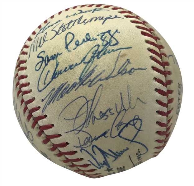 1987 Mets Team Signed ONL Baseball w/ Carter, Cone & Others! (JSA)