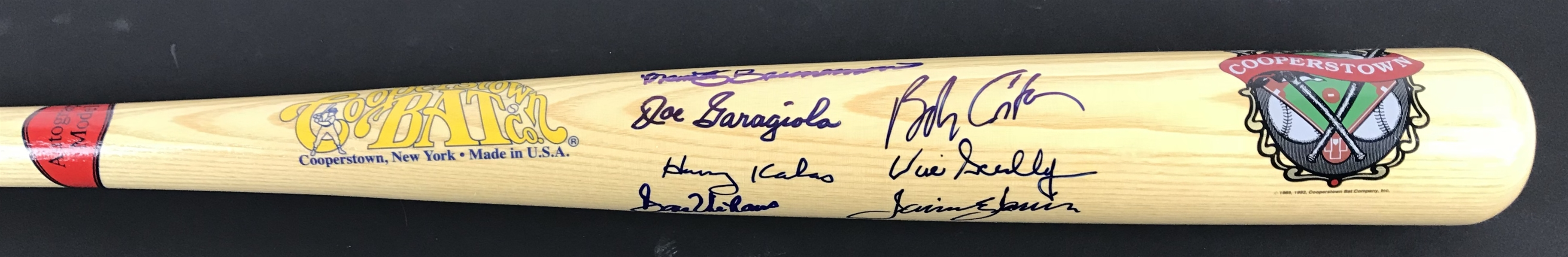 Legendary MLB Announcers Signed Cooperstown Bat w/Scully, Kalas, Costas, etc. (Beckett/BAS Guaranteed)