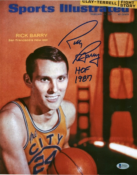 Lot of Three (3) Rick Barry Signed & Inscribed 11 x 14 Photographs (PSA/DNA)