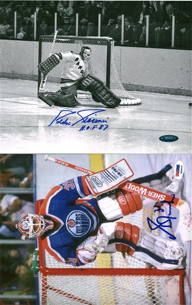 NHL Stars Lot of Seven (7) Signed Photographs w/ Eruzione, Selanne & Others! (Beckett/BAS Guaranteed)