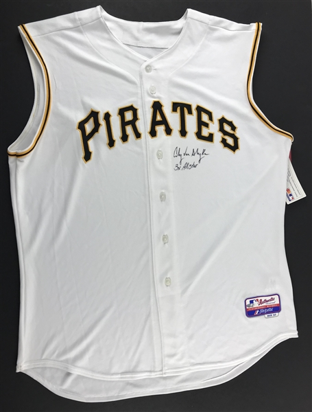 Andy Van Slyke Signed Pittsburgh Pirates Jersey (Beckett/BAS Guaranteed)