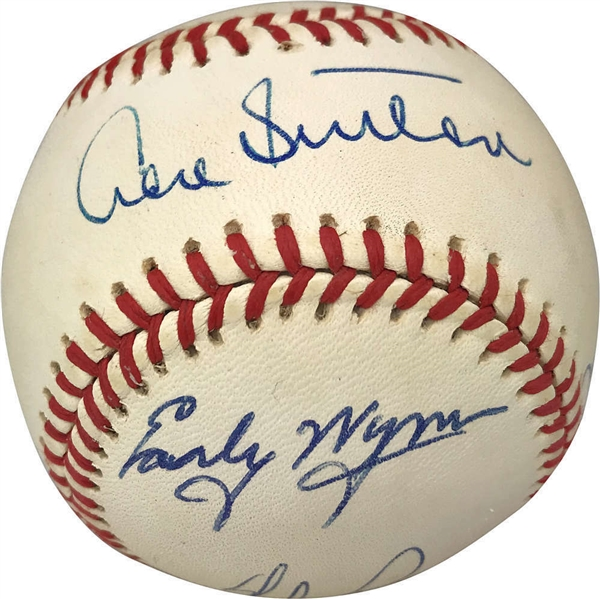Impressive 300 Game Winners Multi-Signed Baseball w/ Ryan, Perry & Others! (Beckett/BAS)