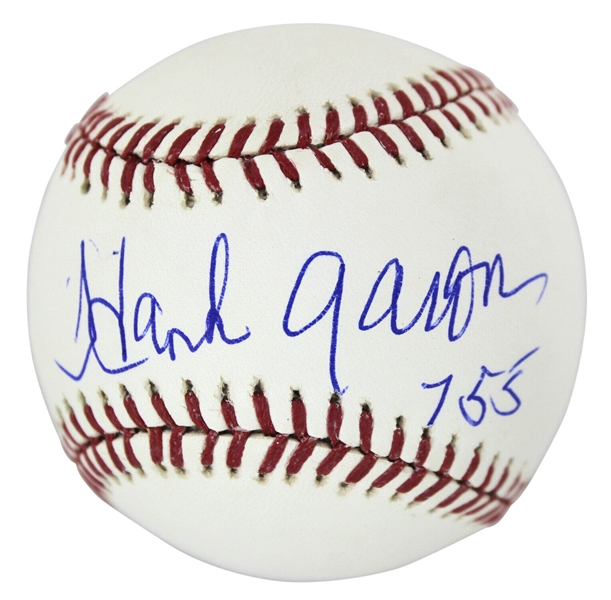 Hank Aaron Signed & Inscribed 755 OML Baseball (Beckett/BAS)