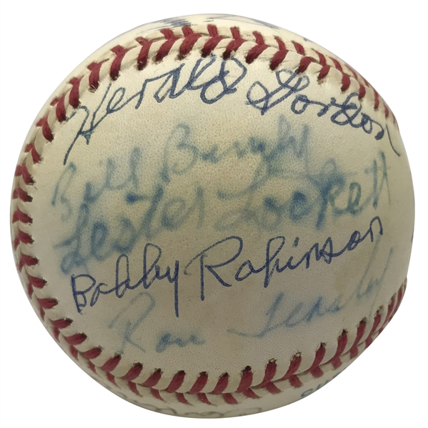 Negro League Greats Signed OAL Baseball w/ Fields, Lockett & Others (PSA/DNA)