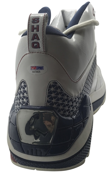 Shaquille O'Neal Signed Game Issued Team USA Sneaker (PSA/DNA)