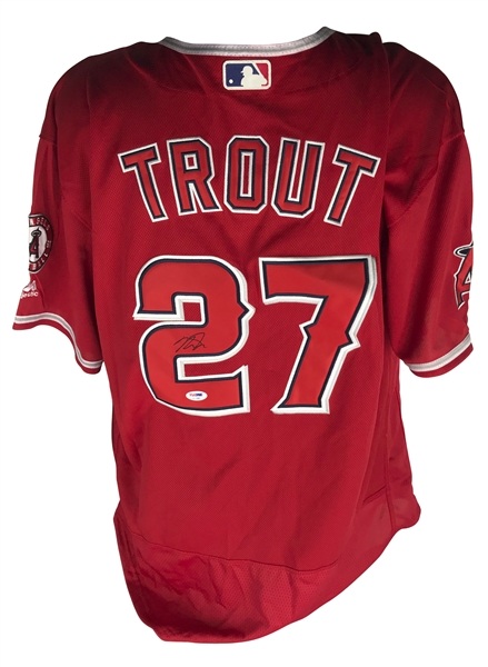 Mike Trout Signed Los Angeles Angels Away Jersey (PSA/DNA)