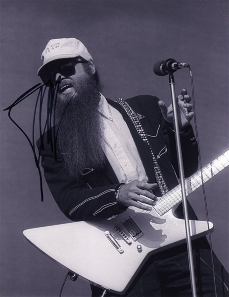 ZZ Top: Billy Gibbons Signed 11 x 14 B&W Photo (Beckett/BAS Guaranteed)