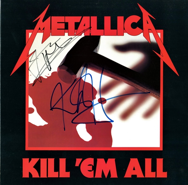 Metallica: James Hetfield & Kirk Hammett Signed Kill 'Em All! Record Album (Beckett/BAS Guaranteed)