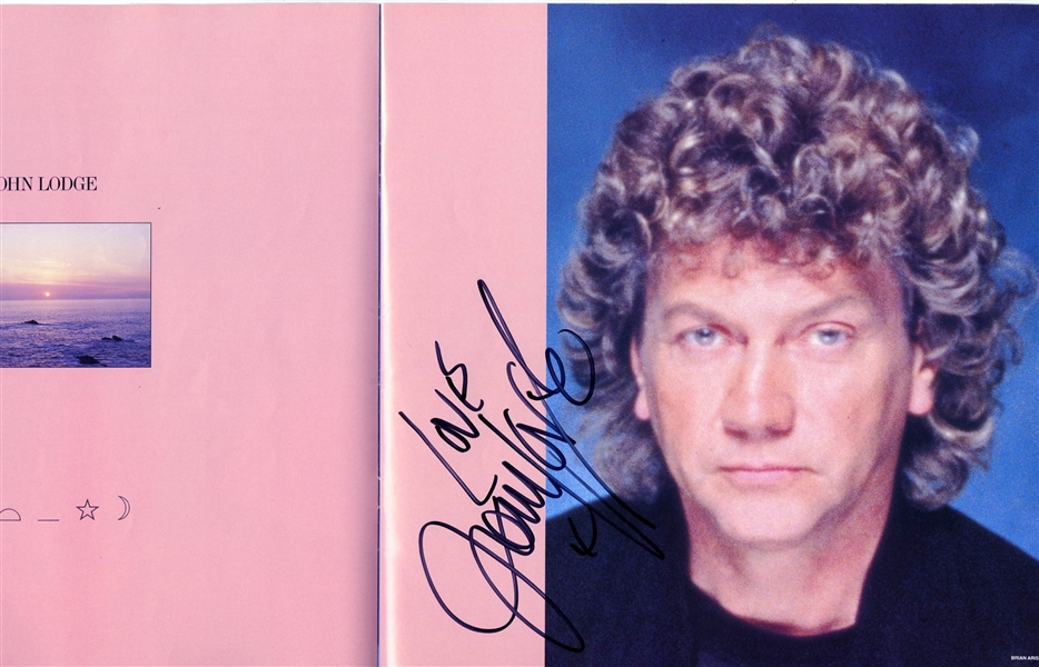 The Moody Blues Group Signed 1984 Tour Program w/ All Four Members (Beckett/BAS  Guaranteed)