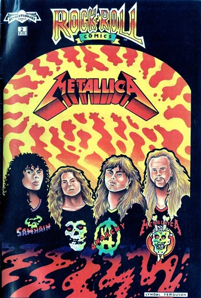 Metallica Group Signed Metallica Rock N' Roll Comic Book (w/Newsted)(Beckett/BAS Guaranteed)