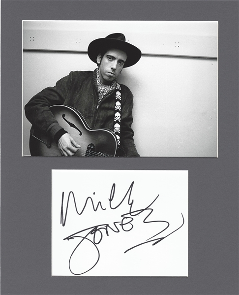 The Clash: Lot of Two (2) Signed Album Pages in Matted Displays w/ Mick Jones & Paul Simonon (Beckett/BAS Guaranteed)