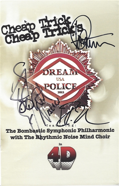 Cheap Trick Group Signed Concert Program w/ 3 Signatures (Beckett/BAS Guaranteed)