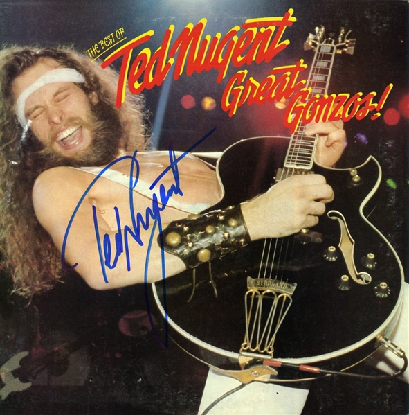 Ted Nugent Signed Great Gonzos! Record Album (Beckett/BAS Guaranteed)