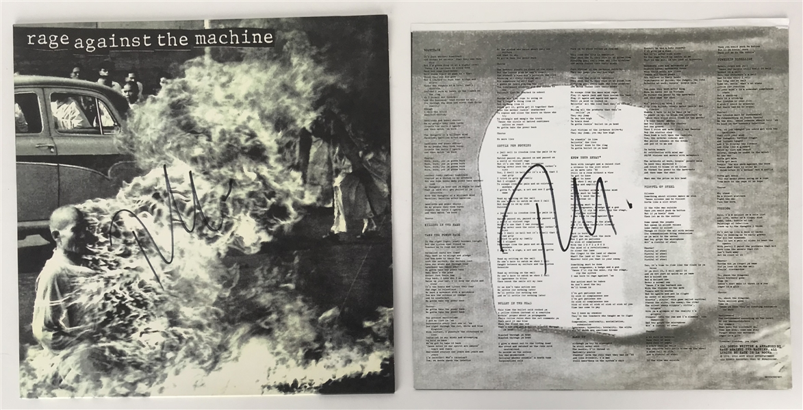 Tom Morello Lot of Three (3) Signed Rage Against The Machine Items (Beckett/BAS Guaranteed)