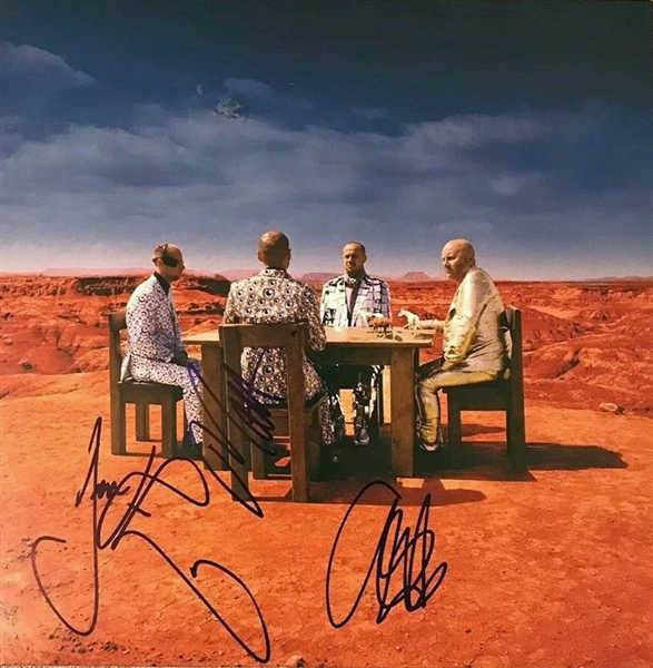 Muse Group Signed Black Holes and Revelations Record Album (Beckett/BAS Guaranteed)