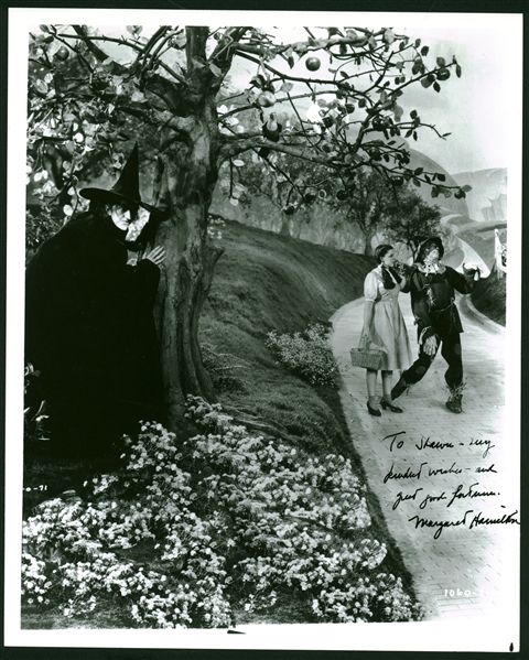 Wizard of Oz: Margaret Hamilton Signed Vintage 8 x 10 Photo as The Wicked Witch! (Beckett/BAS Guaranteed)