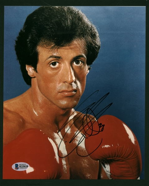 Slyvester Stallone Signed 8 x 10 Color Rocky Photograph (Beckett/BAS)