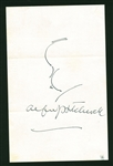 "Alfred Hitchcock Signed & Self Sketched 5"" x 8"" Album Page (Beckett/BAS)"