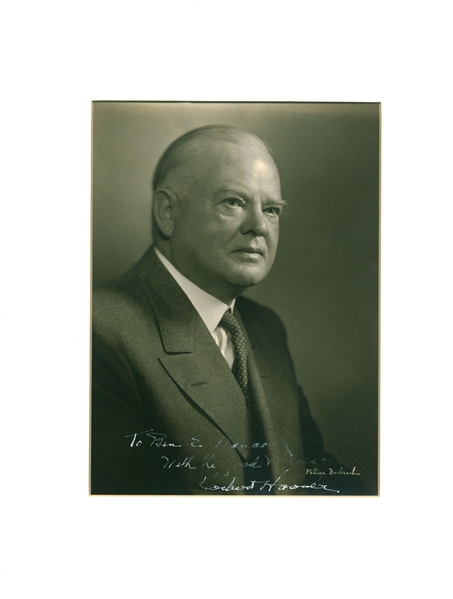 President Herbert Hoover Vintage Signed 6.5 x 9 Sepia Tone Photograph (Beckett/BAS Guaranteed)