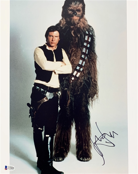 Star Wars: Harrison Ford Signed 11 x 14 Color Photo as Han Solo (Beckett/BAS LOA)