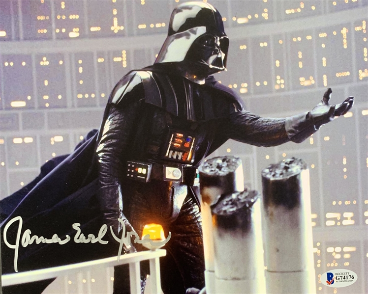 Star Wars: James Earl Jones Signed 8 x 10 Color Photo from The Empire Strikes Back (Beckett/BAS)
