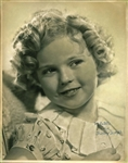 "Shirley Temple Vintage Signed 11"" x 14"" Photograph - Signed As A Child! (BAS/Beckett)"