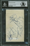 "The Rolling Stones Vintage Group Signed 2.5"" x 4"" Album Page w/ Brian Jones! (Beckett/BAS Encapsulated)"