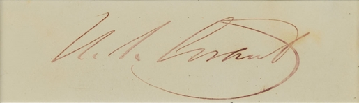 "Ulysses S. Grant Presidential-Era c. 1874 Signed 1.5"" x 4"" Album Page (Beckett/BAS)"