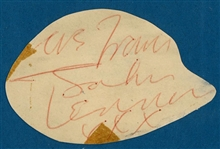 "The Beatles: John Lennon Signed 3"" x 4"" Cut (BAS/Beckett)"