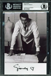 "Hubert de Givenchy Rare Signed 5"" x 7.5"" B&W Photograph (Beckett/BAS Encapsulated)"
