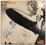 "Led Zeppelin RARE Group Signed ""Led Zeppelin I"" Original Atlantic Records Album w/ Page, Plant & Jones (Beckett/BAS)"