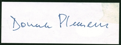"Donald Pleasence Signed 1.5"" x 4"" Album Page (PSA/DNA)"