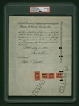 Thomas Edison Signed Edison Thomas A. Edison Incorporated Stock Certificate (PSA/DNA Encapsulated)