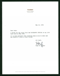 "Playboy: Hugh Hefner Signed Typed 7"" x 9"" Letter (JSA)"
