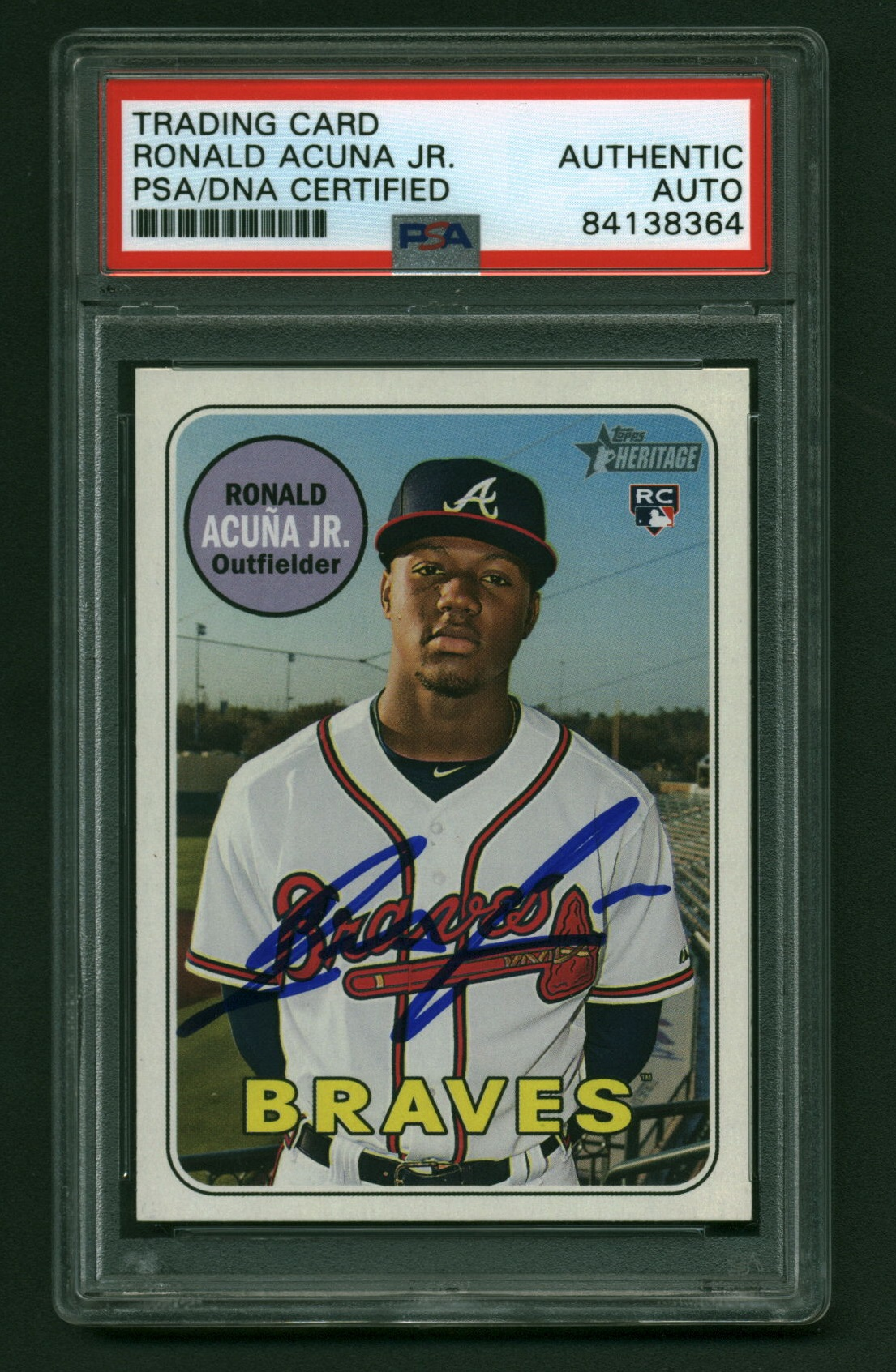 Lot Detail - Ronald Acuna Jr. Signed 2018 Topps Heritage ...