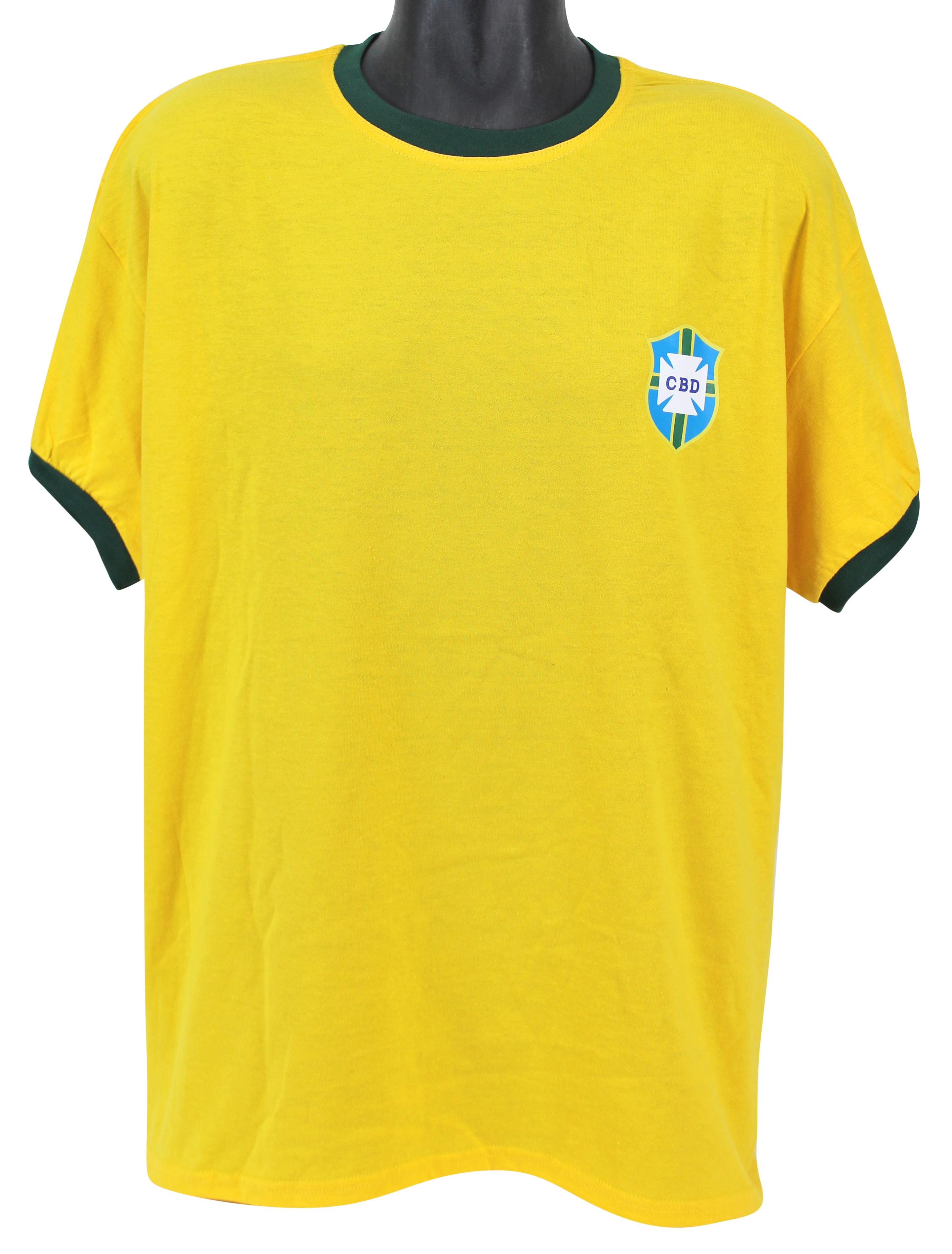 c4bd856cd32 ... Edson Pele Signed Brazilian Soccer Jersey with RARE Full Autograph (PSA/ DNA) ...