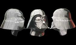 James Earl Jones, Dave Prowse & Brian Muir Signed Full Size Darth Vader Helmet (BAS/Beckett Guaranteed)