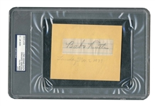 Babe Ruth Autographed Page Segment c. 1937 - PSA/DNA Graded GEM MINT 10!