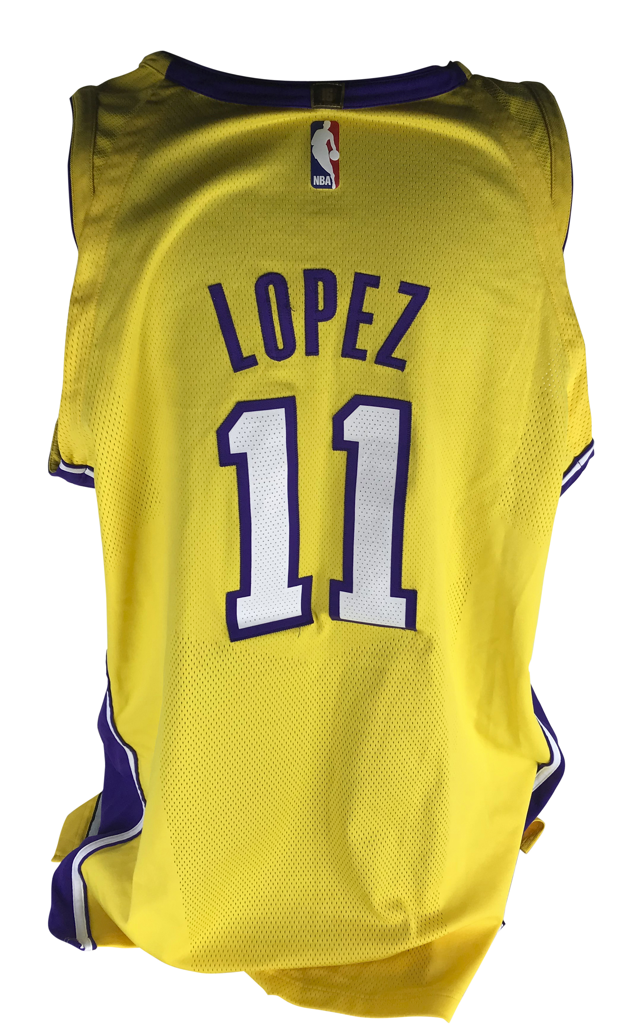 on sale e5ee2 05a53 Lot Detail - Brook Lopez Game Worn/Used 2017-18 LA Lakers ...