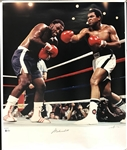 "Muhammad Ali Rare Signed Limited Edition ""Frazier III"" Neil Leifer 20"" x 24"" Photograph (Beckett/BAS)"