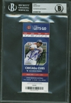 Kris Bryant Signed 2015 Major League Debut Chicago Cubs Ticket BGS Graded GEM MINT 10!