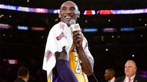 INCREDIBLE Kobe Bryant 2016 Body Armor Towel Personally Worn & Used by Kobe During his Lakers Farewell Speech Post-Final Game w/ Incredible Provenance!