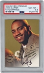 Vince Carter Signed 1998 Skybox Premium Autographics Card - PSA Graded NM-MT+ 8.5